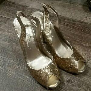 Nina open toe heels